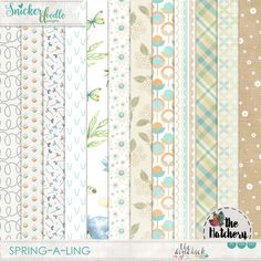<p> Spring-a-Ling Digital Scrapbooking Papers 01 by SnickerdoodleDesigns</p>