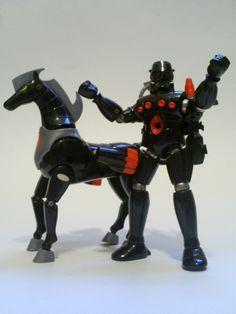 Baron Karza and his robotic steed, Andromeda. Karza was my favorite Micronaut.