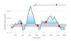 Glucose monitoring data graph