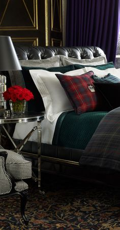 Ralph Lauren Devonshire Tartan Collection (very nice for a men's bedroom)