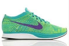 NEW Nike Men's Flyknit Racer Sport Turquiose / Hyper Grape 526628 301 SZ 11 Clothing, Shoes & Accessories:Men's Shoes:Athletic