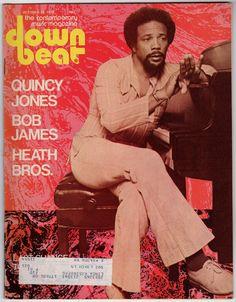 Downbeat contemporary music magazine (Quincy Jones), October 1975