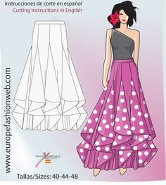 it is a ballroom skirt pattern. but im thinking velvet and chiffons! Designed by Paco Ximénez ♥ ♥Godets, possibility for ball gownI want a flamenco skirt! Diy Clothing, Sewing Clothes, Clothing Patterns, Dress Patterns, Sewing Patterns, Sewing Coat, Coat Patterns, Dress Sewing, Fashion Sewing