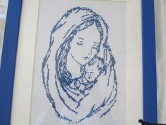 madonna con bambino a punto croce