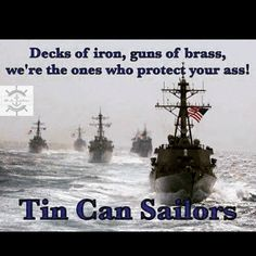 Military Humor, Military Service, Military Life, Tin Can Sailors, Us Sailors, Navy Special Forces, Navy Humor, Us Navy Destroyers, Navy Coast Guard