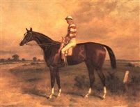 The Earl a bay racehorse with Fordham up on a rececourse by Harry Hall
