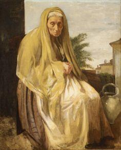 Edgar Degas (French: 1834–1917) - The old Italian woman -1857
