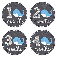 Pinkie Penguin Baby Monthly Stickers - Whale Theme - Baby Boy - 1-12 Months - Milestone Onesie Stickers - Month Stickers for Baby Pinkie Penguin http://www.amazon.com/dp/B00XIICL76/ref=cm_sw_r_pi_dp_9aUiwb0G3QVB9