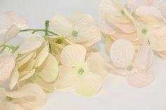 Cream Hydrangeas  Over 25 Silk and Tulle Hydrangea by simplyserra, $5.75