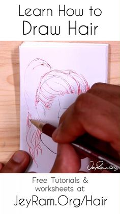 How to Draw Hair: Tutorials, Worksheets and References - Girl Hair Drawing, Cartoon Girl Drawing, Guy Drawing, Drawing Skills, Manga Drawing, Drawing Reference, Anime Hair Drawing, Doodle Art Drawing, Pencil Art Drawings