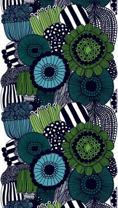 The Siirtolapuutarha from Marimekko Vancouver is a unique fashion item. Marimekko Vancouver carries a variety of printed fabric and other Fabric items. Motifs Textiles, Textile Patterns, Textile Design, Fabric Design, Pattern Design, Zentangle Patterns, Print Patterns, Illustration Arte, Marimekko Fabric
