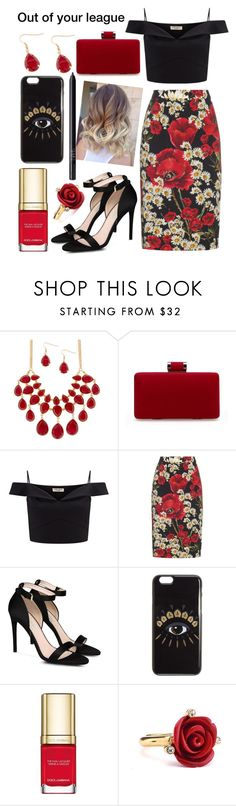 """""""Out of your league ."""" by sweet-humbug ❤ liked on Polyvore featuring Lipsy, Dolce&Gabbana, STELLA McCARTNEY, Kenzo, Oscar de la Renta and NARS Cosmetics"""
