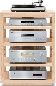 Dovetail Audio Rack - Custom Audio Equipment Shelving - Akustik ve Ses Yalıtımı Hifi Stand, Audio Stand, Audio Rack, Audio Vintage, Vynil, Record Player Stand, Stereo Cabinet, Rack Tv, Vinyl Record Storage