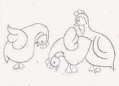 desenho de galinhas de angola para pintar