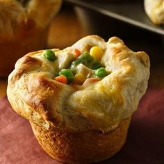 Grands!� Chicken Pot Pie Puffs 2	cups Green Giant® frozen mixed vegetables, thawed 1	cup diced cooked chicken 1	can (10¾ oz) condensed cream of chicken soup 1	can (16.3 oz) Pillsbury® Grands!® Flaky Layers refrigerated biscuits