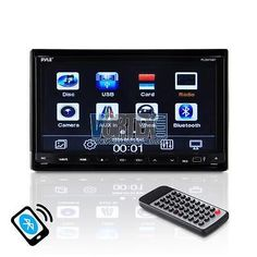 """pyle Car Video 7"""" 2-DIN Motorized DVD CD MP3 Bluetooth AM/FM USB Stereo Receiver"""