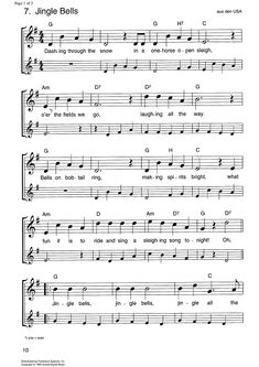 Jingle Bells Sheet Music Preview Page 1
