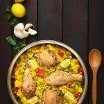paella pollo Risotto, Curry, Ethnic Recipes, Food, Chicken, Paella Recipe, Food Food, Recipies, Curries