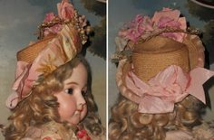 Superb French Bebe Silk Costume with Antique Straw Hat ~~~