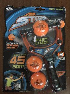 Zing Toys Air Storm Zing Shot, Orange Black #ZingToys