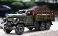 1956年解放车模型 铁皮重型卡车模型 复古手工铁皮车模型礼品摆设-淘宝网