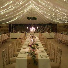 The cow shed marquee at night Diy Wedding, Wedding Reception, Wedding Venues, Wedding Flowers, Wedding Ideas, Cow Shed, Fife Scotland, Countryside Wedding, Through The Looking Glass