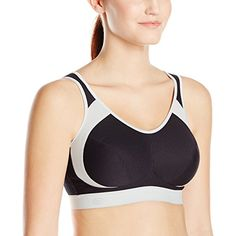 Anita Women's Extreme Control Sport Bra, Black Gray, 38E Made by #Anita Color #Black Gray. 80% Polyester, 10% Polyesteramide, 10% Cotton. Extreme control. Full support for full breasted woman. Machine washable, line dry,no bleach, no dryer. Thailand
