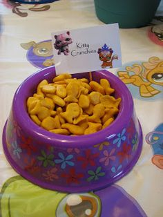 Littlest Pet Shop Bday - snack bowl idea