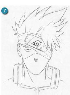 como dibujar a kakashi