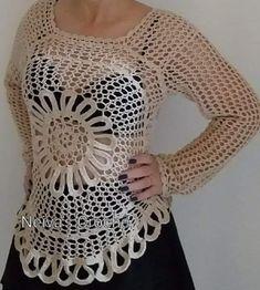 Crochet Blouse, Crochet Tops, Fotos Do Instagram, Foto E Video, Make It Yourself, Sewing, Knitting, Cardigans, Women