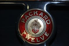 1935 Packard Model Twelve badge.  Photography by David E. Nelson