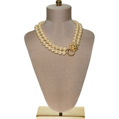 DESCRIPTION KJL for Avon Lions Head and Pearl NecklaceFrom the King of…