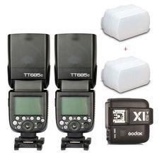 2* Godox TT685C 2.4G HSS E-TTL GN60 Wireless Flash X1T-C Trigger for Canon EOS #GODOX