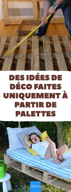 Deco ideas made - Wood Decora la Maison Palette Deco, Palette Art, Ikea Kallax Shelf, Latte, Best Ikea, Outdoor Furniture, Outdoor Decor, Ecology, Memes