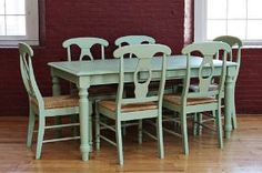 painted farmhouse table and chairs