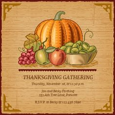 Finally Time To Invite Over The Friends For This Years Thanksgiving - Thanksgiving party invitation templates