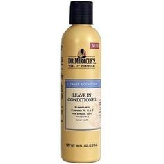No matter your hair type, relaxed, braided, natural or weaved, Dr. Miracle's Leave In Conditioner detangles, softens, and adds luster to hair with an enriching blend of Vitamins A, C, & E