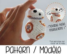 BB8 astromech amigurumi with movable head - BB-8 Star Wars robot [crochet pattern] (5.50 EUR) by Ahookashop