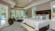 Serene mornings at home are yours in this private master retreat.  #masterbedroom #inspiration
