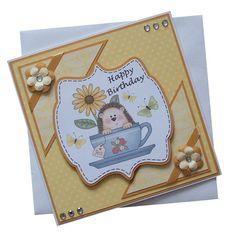 Handmade Hedgehog Birthday Card