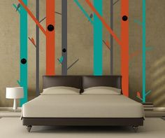 This site has amazing wall stickers..inspiration for a stencil.