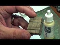 Weathered Wood Effects - Painting a Crate - YouTube