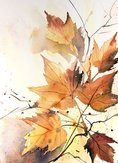 Autumn Painting, Autumn Art, Autumn Trees, Autumn Nature, Watercolor Wallpaper, Watercolor Leaves, Watercolor Landscape, Autumn Leaves Wallpaper, Cute Fall Wallpaper