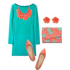 - teal and coral#Repin By:Pinterest++ for iPad#