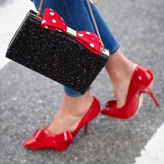 <taking my #MinnieMousexKateSpade clutch out for a day in the West Village. Pop over to @minniestyle to see more and shop the collection.> ❤️ #minniestyle #minnie #katespade #ad