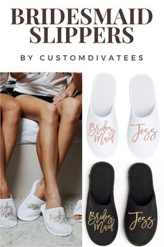 Bridesmaid Slippers (Personalized) for Getting Ready on Wedding Day; Bachelorette Party, Spa Weekend Spa Slippers, Kids Slippers, Bridesmaid Slippers, Spa Weekend, Bridesmaid Proposal Gifts, Girls Getaway, Birthday Woman, Will You Be My Bridesmaid, On Your Wedding Day
