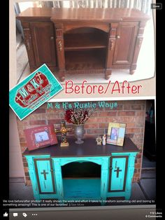 Crosses to add to my entertainment center Refurbished Furniture, Repurposed Furniture, Rustic Furniture, Furniture Makeover, Painted Furniture, Diy Furniture, Bedroom Furniture, Western Decor, Country Decor