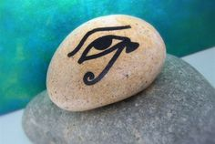 THE EYE OF HORUS Spirit Stone by ThePathUnwinding on Etsy, $14.00