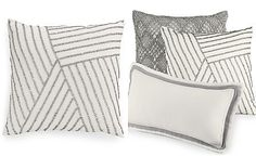 """Hotel Collection Linen Fog 18"""" Square Decorative Pillow, Only at Macy's"""