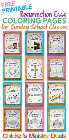 FREE Resurrection Eggs coloring pages for Sunday School